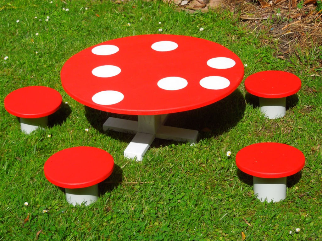 Toadstool Table And Chairs